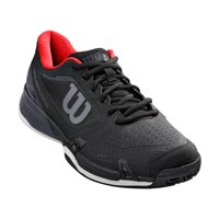 Wilson Men's Rush Pro 2.5 Tennis Shoe, Black/Ebony/Red