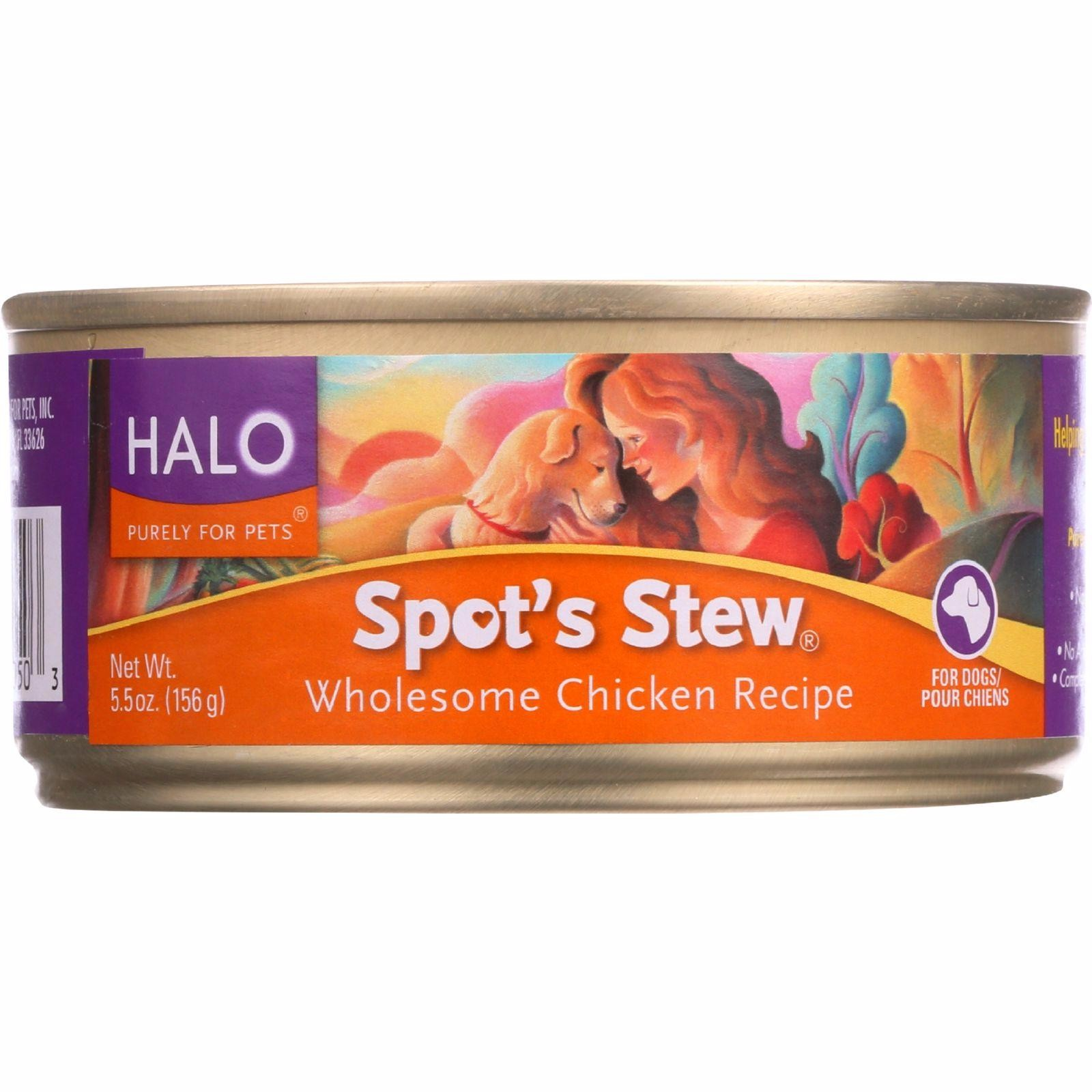 Halo Purely For Pets Dog Food - Spots Stew - Wholesome Chicken - 5.5 Oz - Pack of 12