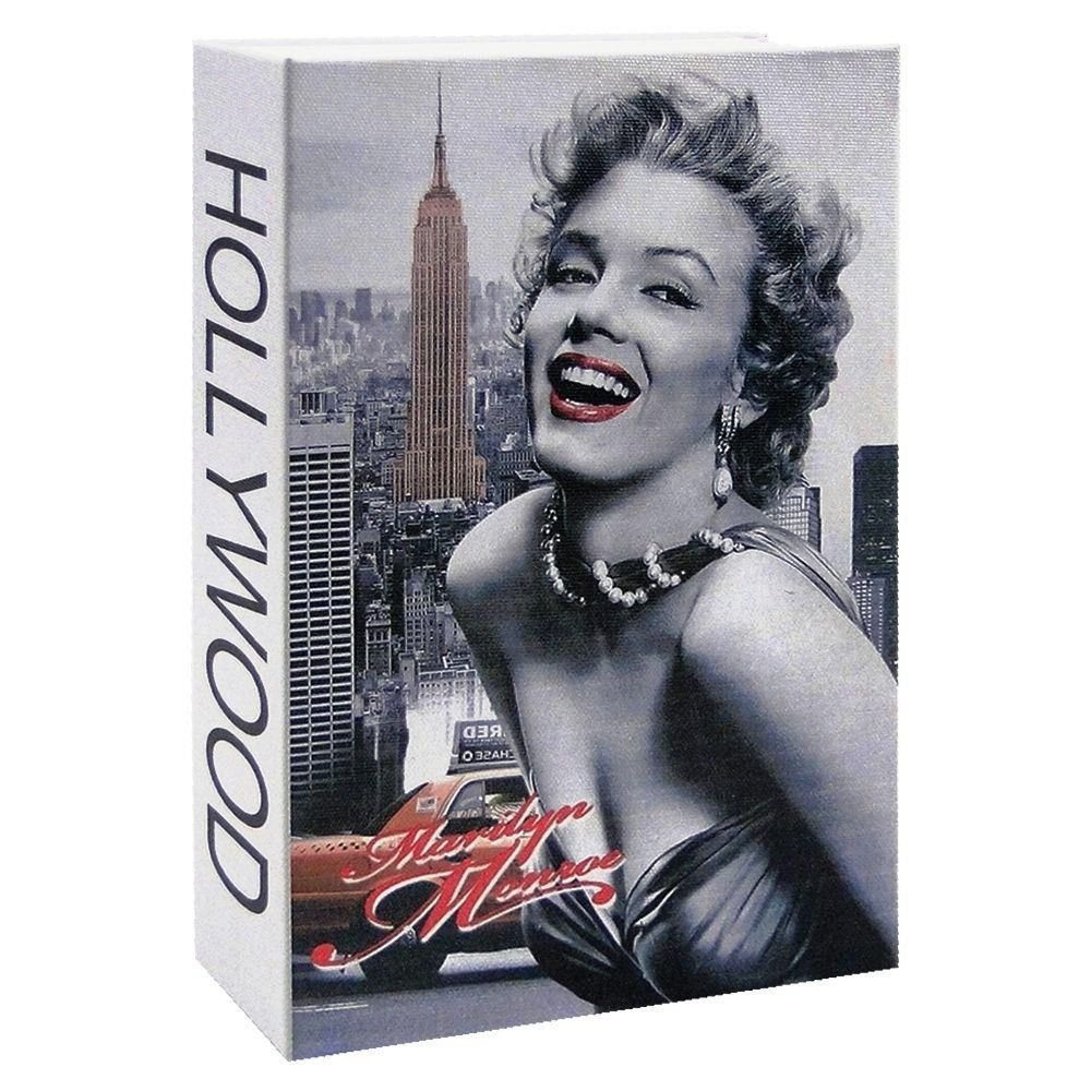 Diversion Book Safe with Key Lock for Home, Business MARILYN MONROE