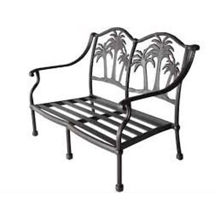 Palm Tree Cast Aluminum (Aluminum Loveseat)