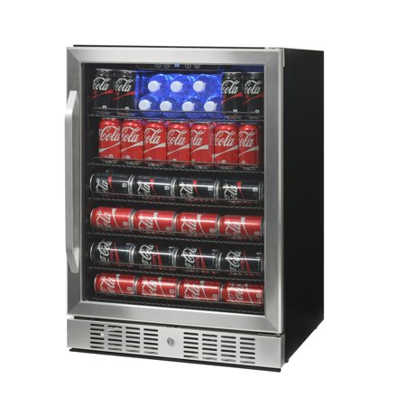 Deluxe Beverage - NewAir ABR-1770 177 Can Deluxe Beverage Cooler, Stainless Steel