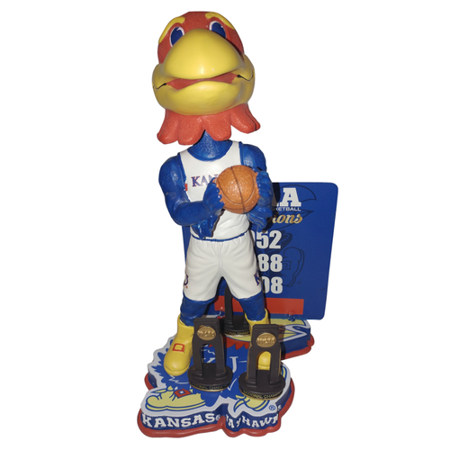 1988 Kansas Jayhawks Basketball - Big Jay Kansas Jayhawks NCAA Mens Basketball National Champ. Bobblehead Only 216