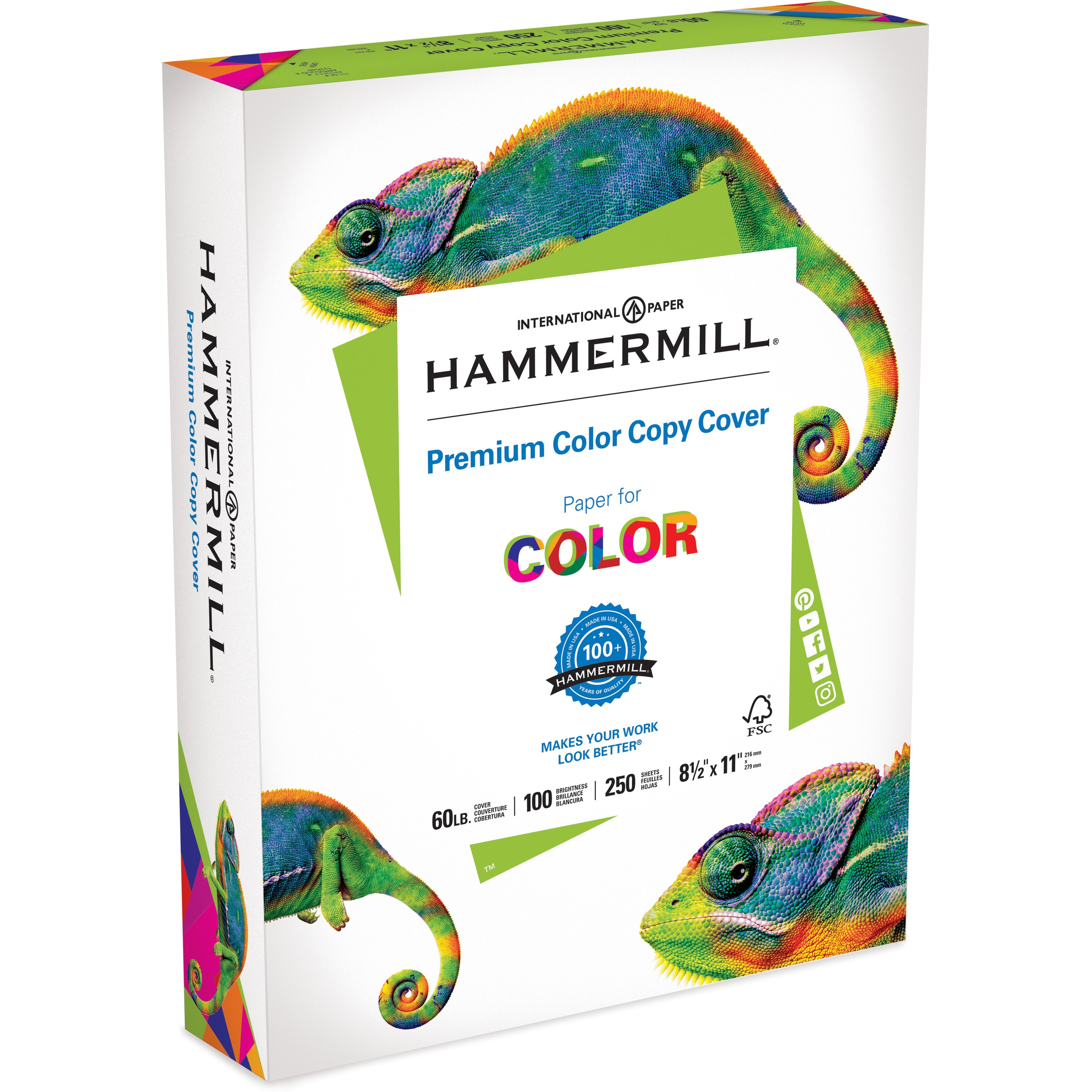 Hammermill Color Copy Cover Paper, White, 250 / Pack (Quantity)