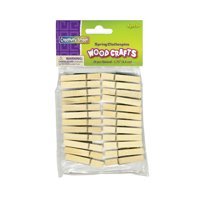 "Creativity Street Wood Craft Pins, 1.75"", Natural, 24/Pkg."