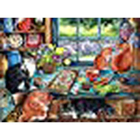 Jack Pine Puzzle Co. Cat Retreat 1000 Piece Jigsaw Puzzle (Jack Sorenson Puzzles)