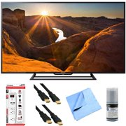 Sony KDL-48R510C - 48-Inch Full HD 1080p 60Hz Smart LED TV Plus Hook-Up Bundle - Surge Protector with USB Ports, 2 x High-Speed HDMI Cable, TV/LCD Screen Cleaning Kit, and More