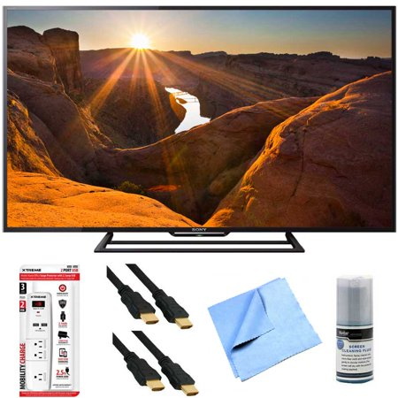 Sony KDL-48R510C – 48-Inch Full HD 1080p 60Hz Smart LED TV Plus Hook-Up Bundle – Surge Protector with USB Ports, 2 x High-Speed HDMI Cable, TV/LCD Screen Cleaning Kit, and More