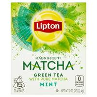 (3 Boxes) Lipton Magnificent Matcha Green Tea Bags Mint 15 ct