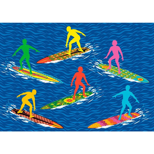 Fun Rugs Surf Time Surfs R Us Blue Area Rug