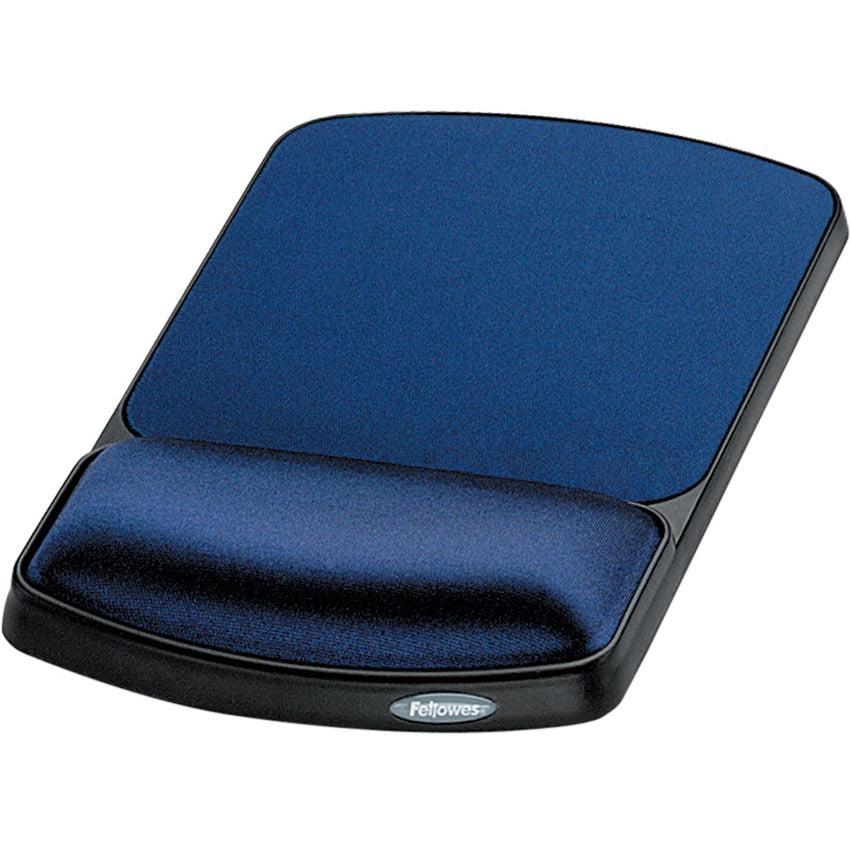 Fellowes, FEL98741, Gel Wrist Rest and Mouse Rest - Sapphire/Black, 1, Sapphire,Black
