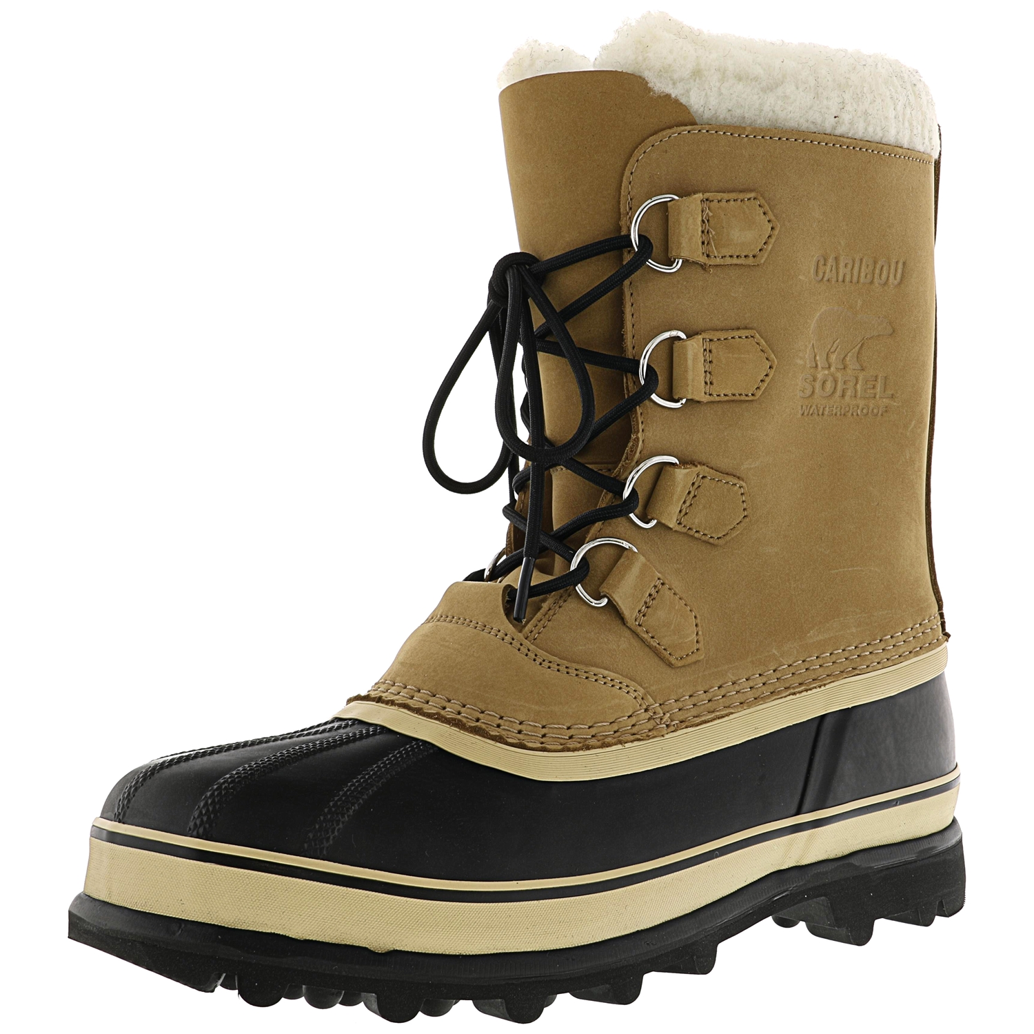 Sorel Men's Caribou Buff Ankle-High Leather Snow Boot - 12M