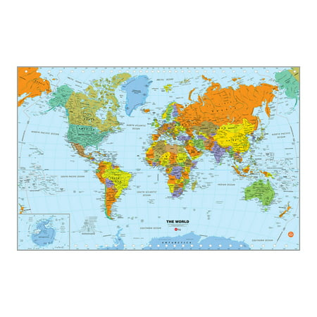 WallPops World Dry Erase Map - Dry Erase Memo Decal
