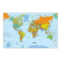 WallPops World Dry Erase Map Decal
