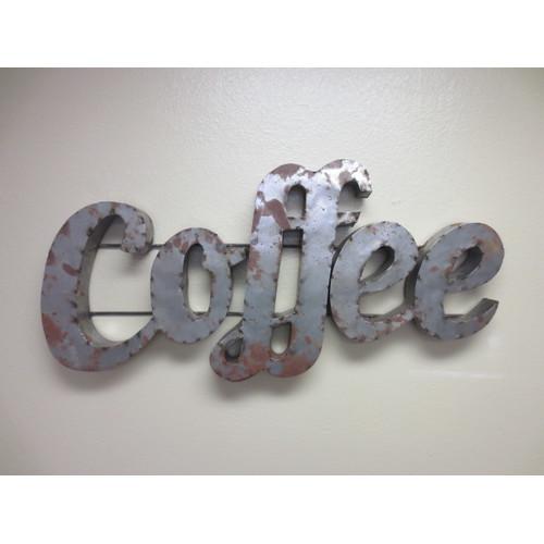 Rustic Arrow Coffee Sign with Rebar Wall D cor