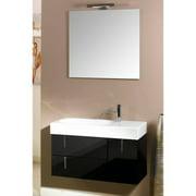 "Nameeks NE3 Iotti 35"" Wall Mounted Vanity Set with Wood Cabinet, Ceramic Top, 1"