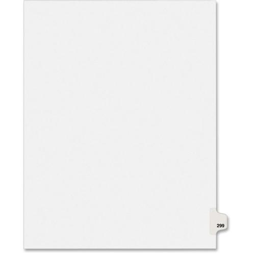 "Avery Individual Side Tab Legal Exhibit Dividers - 1 - Tab(s)Printed Exhibit 299 - 8.50"" Divider Width x 11"" Divider Len"