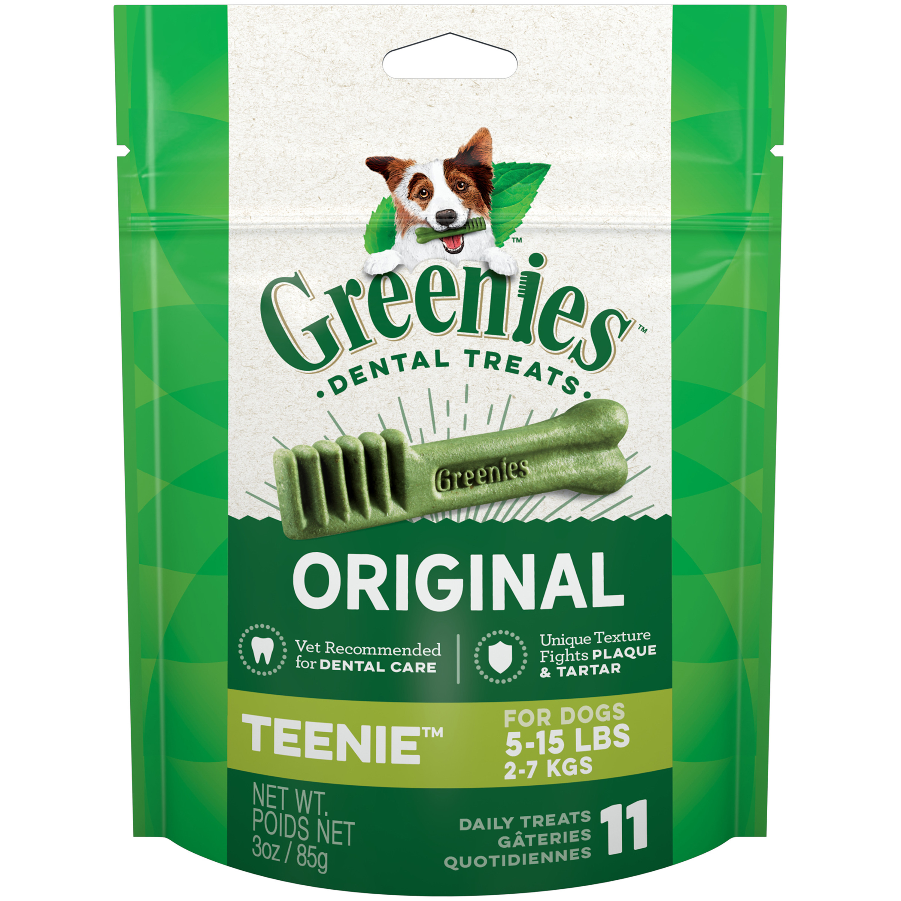 GREENIES Original TEENIE Dental Dog Treats, 3 oz. Pack (11 Treats)