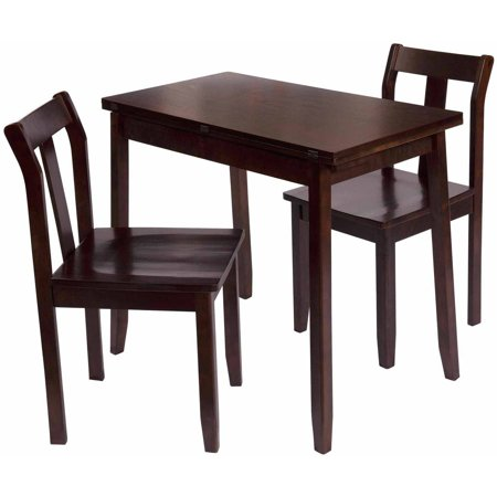 Bay Shore Collection Expandable Table and Chairs Espresso