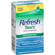 Refresh Lubricant Eye Drops Value Size Refresh Tears, 0.5 Oz. Bottles, 2 Pk