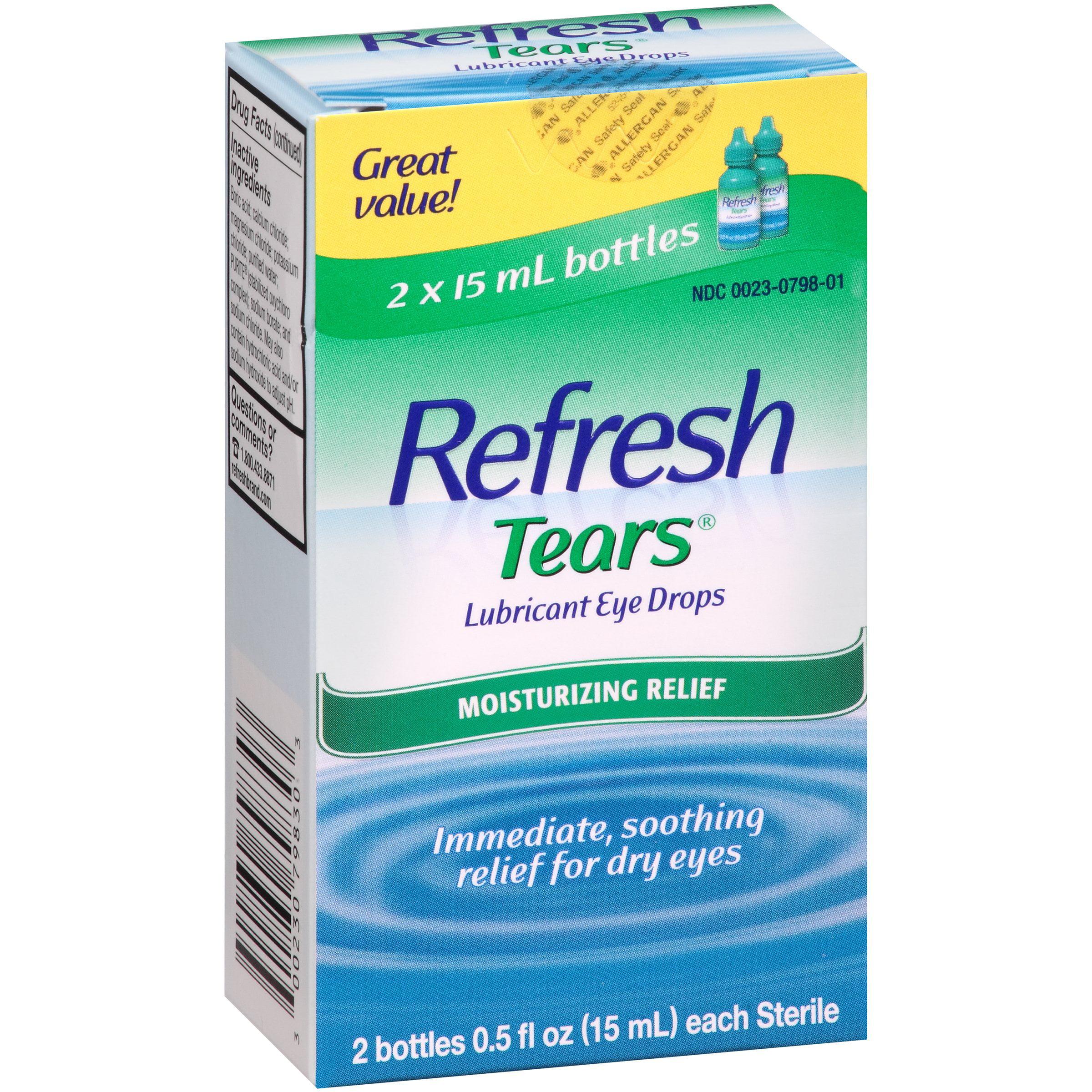 Refresh Lubricant Eye Drops Value Size Refresh Tears, 2 - .5 Oz bottles, 1 Oz.