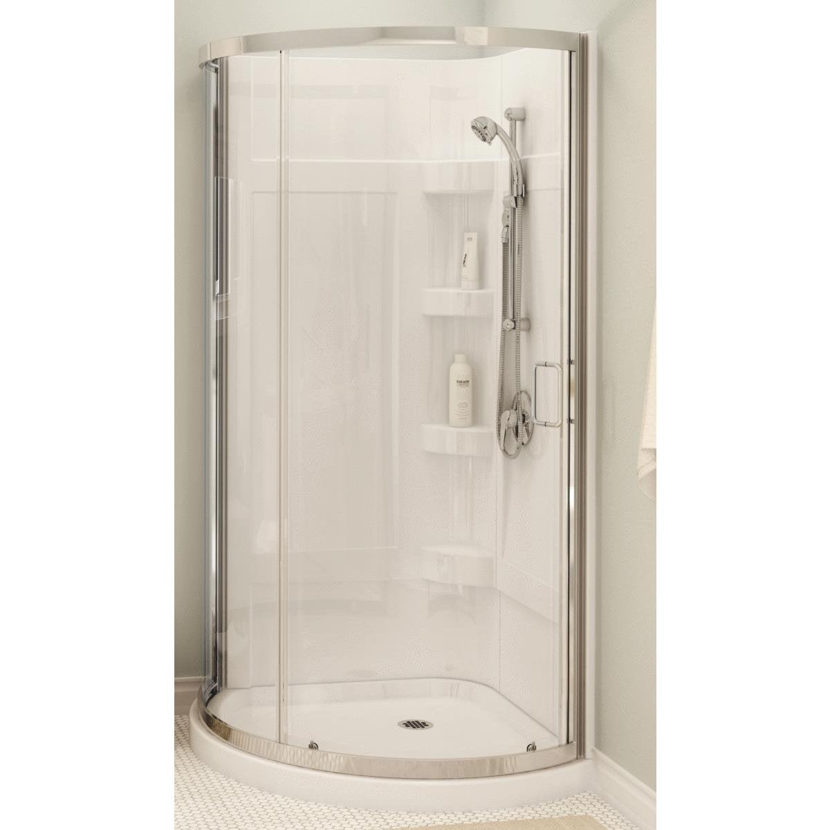 Maax White Round Shower Kit