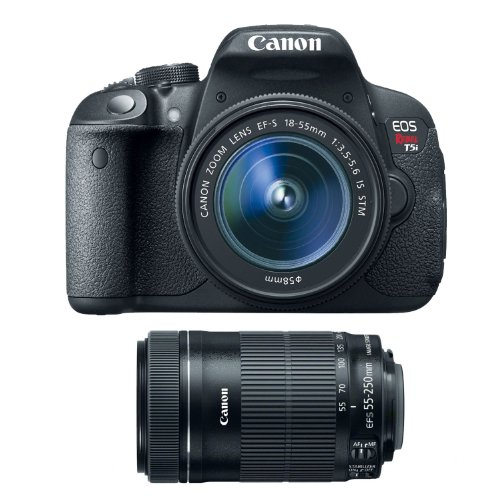 Canon EOS Rebel T5i 18.0 MP DSLR with EF-S 18-55mm IS STM Zoom Lens & Canon EF-S 55-250mm IS STM Lens by Canon
