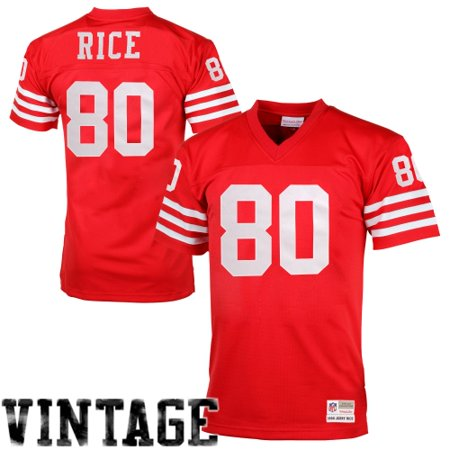 best website b01a1 eb1c9 Jerry Rice San Francisco 49ers Mitchell & Ness Retired Player Vintage  Replica Jersey - Scarlet