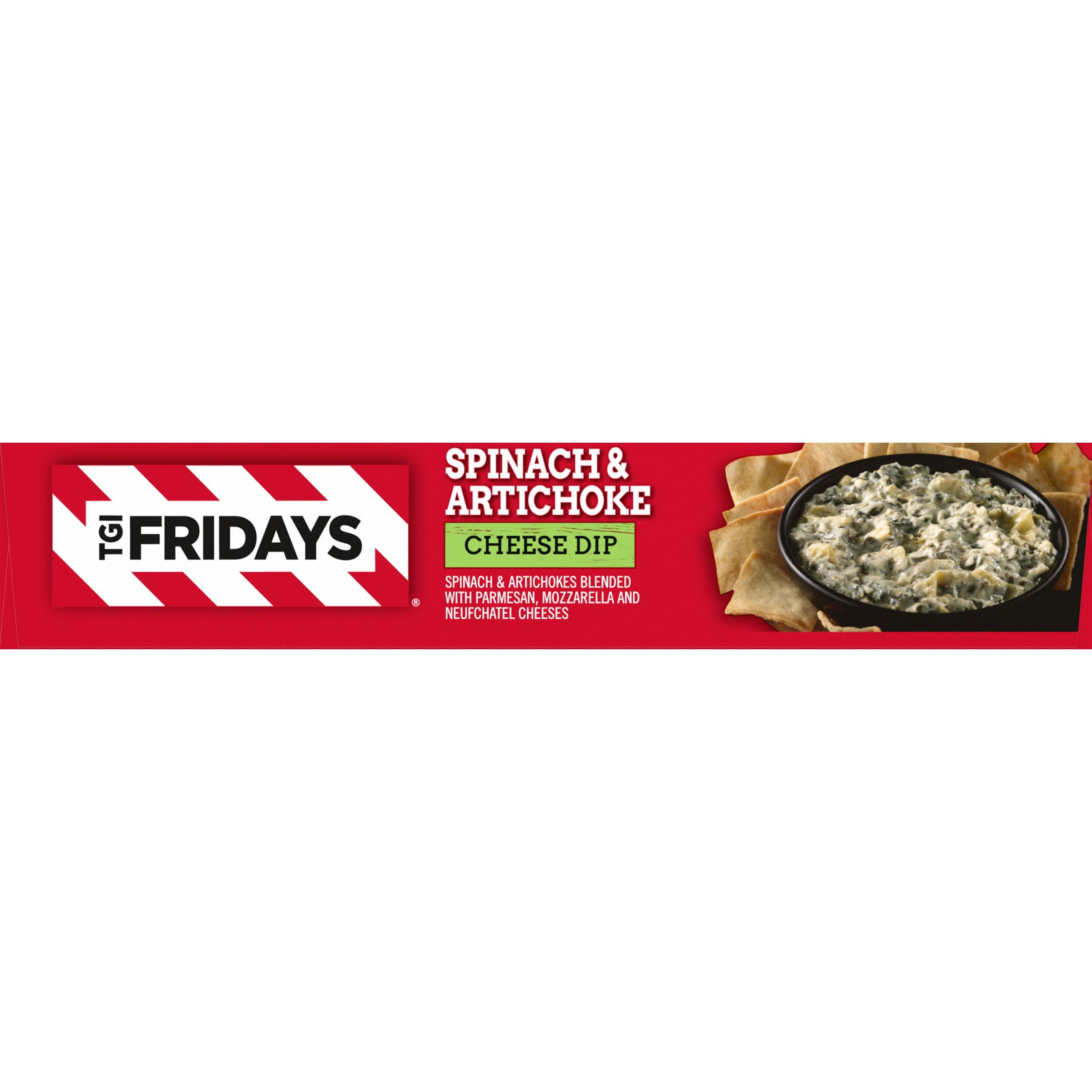 Tgi Fridays Spinach Artichoke Cheese Dip 8 Oz Box Walmart Com Walmart Com