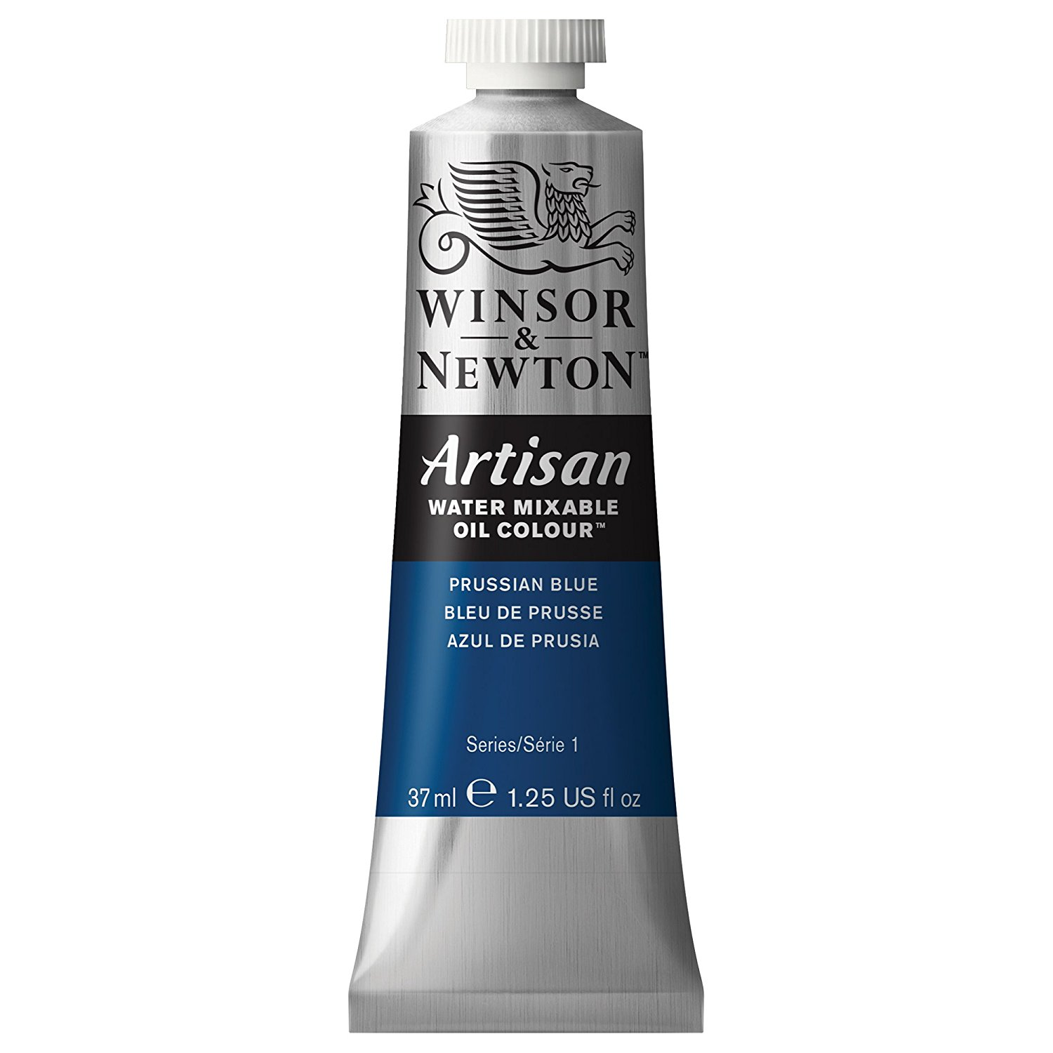 Winsor & Newton Oil Paint: Water Mixable, Prussian Blue, 37 mL