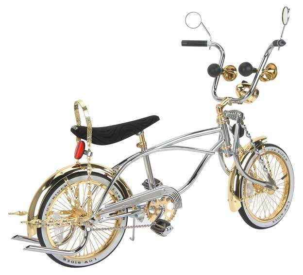 """16"""" Lowrider Bike, Gold Chrome by F&R Co."""