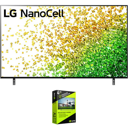 LG 55NANO80UPA 55 Inch NanoCell 80 Series LED 4K UHD Smart webOS TV (2021) Bundle with Premium 4 Year Extended Protection Plan