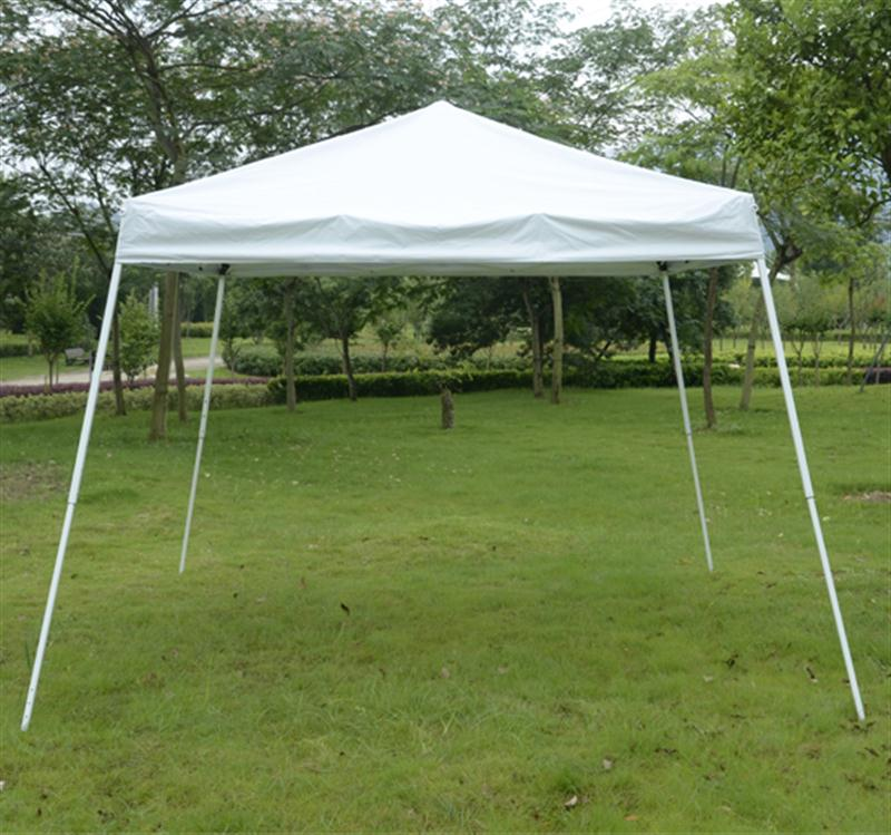 Outsunny 10u0027 x 10u0027 Slant Leg Easy Pop-Up Canopy Party Tent - & Outsunny 10u0027 x 10u0027 Slant Leg Easy Pop-Up Canopy Party Tent - White ...