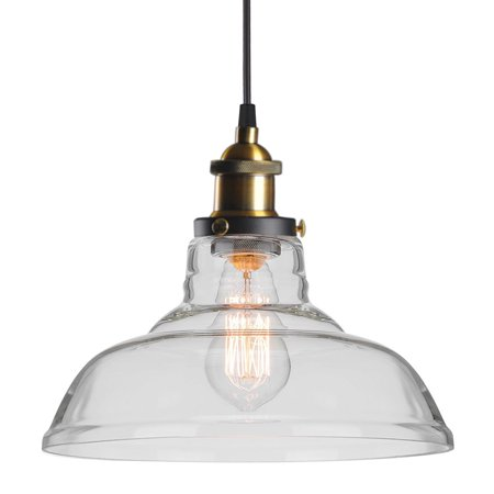 Outtop Industrial Edison Vintage Style Ceiling Pendant Glass Hanging Light US Stock hot sale Box Us 4 Light Pendant