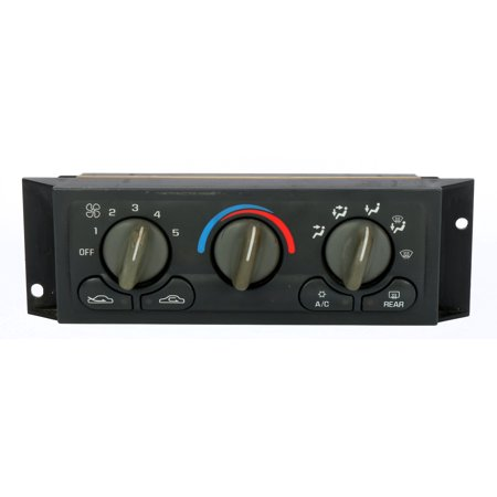 1997-1999 Pontiac Montana Trans Sport Single Temperature Control Panel 16201032 (Pontiac Trans Sport Air)