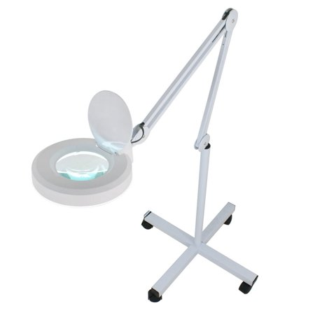 ZENY Facial Magnifying Magnifier Floor Lamp 5 Diopter w/ Rolling Floor Stand