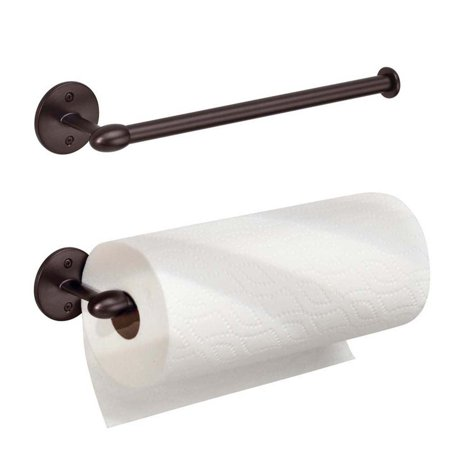 New York Orbinni Kitchen Wall-Mount Paper Towel Holder, Bronze