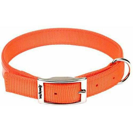 Remington Reflective Orange Double Ply Safety Dog Collar,