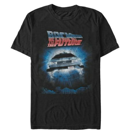 Back To The Future 2017 Clothes (Back to the Future Men's Retro DeLorean Poster)
