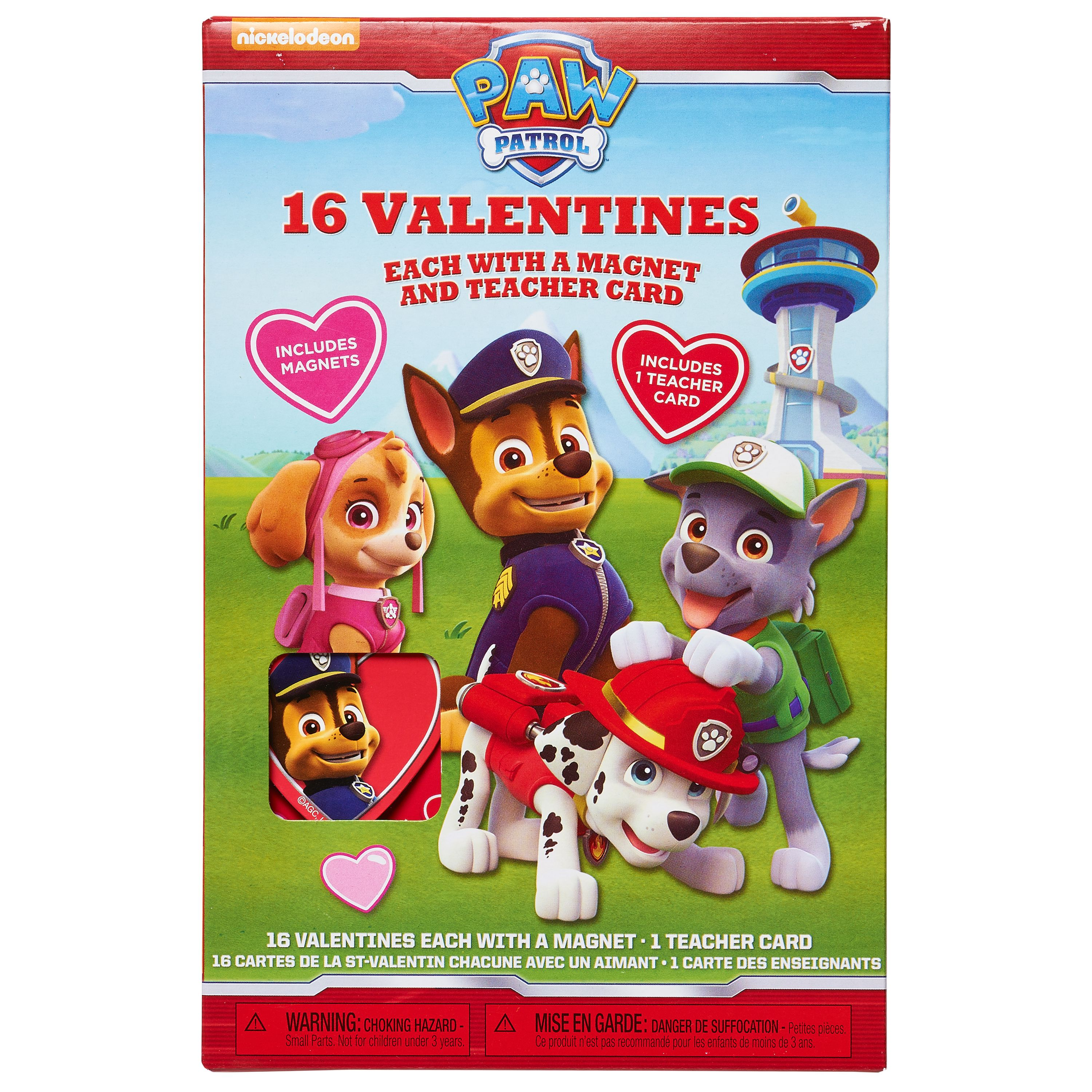 PAW Patrol Valentine's Day Exchange Cards, 16 count with magnets