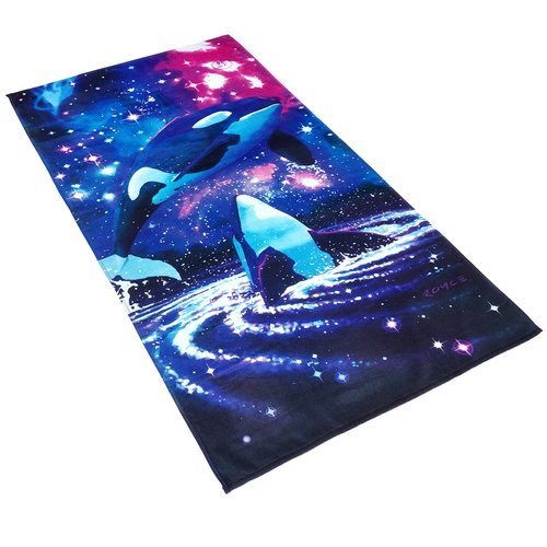 Kaufman Sales Royce Space Orcas Printed Beach Towel