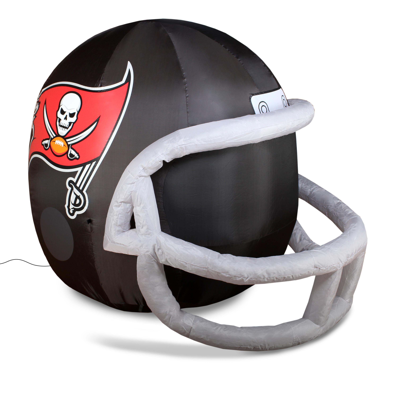 NFL Tampa Bay Buccaneers Team Inflatable Lawn Helmet, Black, One Size