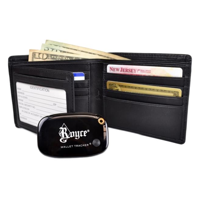 Royce Leather RFTR-110-BLK-5 Freedom Wallet For Men, Black