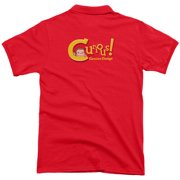 Curious George Curious (Back Print) Mens Polo Shirt