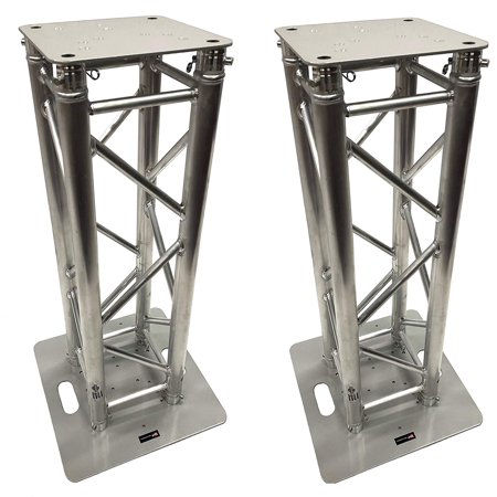 "(2) DJ Lighting Aluminum Truss Light Weight Dual 3.28 ft Totem System Moving Head. F34 Type Trussing! 2"" Diameter Tubing! 12""x12"" Fitment!"
