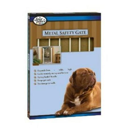 Four Paws Metal Safety Gate Walk Thru Pet Gate - Fits 30-34