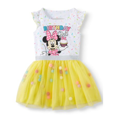 8da99a4d098d Minnie Mouse - Birthday Girl Tutu Dress (Toddler Girls) - Walmart.com