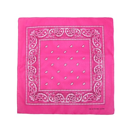 Individually Folded & Packaged Paisley Print Cotton Bandana - Custom Bandana