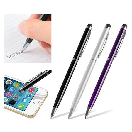 Insten 3pcs 2-in-1 Touch Screen Stylus Ballpoint Pen For Universal Phone Tablet for iPhone 11 / 11 Pro / 11 Pro Max 6S 6 Plus 5.5
