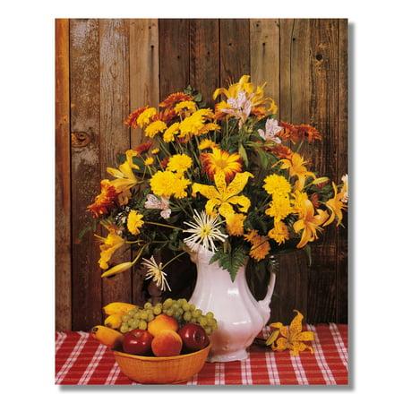 Flower Arrangement Fruit on Table Floral #1 Photo Wall Picture 8x10 Art Print ()