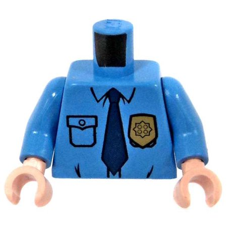 LEGO Light Blue Male Police Officer's Uniform Loose Torso - 1920 Police Uniform